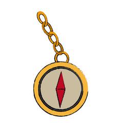 navigation compass icon destination travel vector image