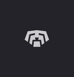 puppy logo design template dog creative sign pet vector image vector image
