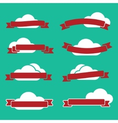 Ribbons and clouds vector image vector image