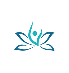 silhouette in lotus flower vector image
