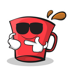 super cool red glass character cartoon vector image vector image