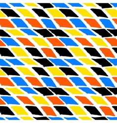 Colorful bold harlequin pattern vector image vector image