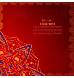 Ethnic red ornament vector image vector image