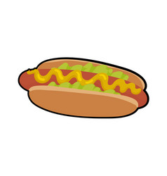 isolated of delicious hotdog vector image vector image