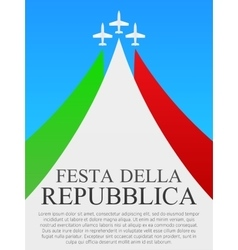 Italian National Day poster vector image vector image