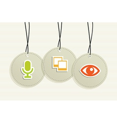 Multimedia hang tags vector image