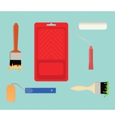 paint tools collection stuff vector image vector image