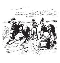 pony express vintage vector image