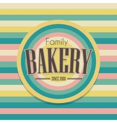 Retro bakery logo vector image