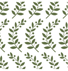 seamless pattern with laurel branches vector image vector image