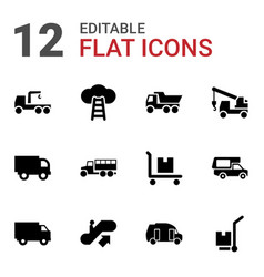 12 moving icons vector image