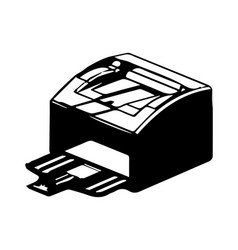 3d model of printer on a white vector image