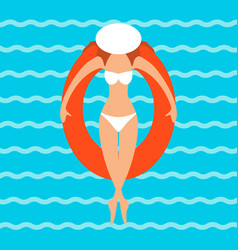 a young woman in a bikini vector image