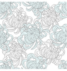 abstract seamless floral pattern sketch pastel vector image