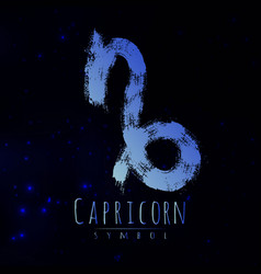 Abstract zodiac sign capricorn on a dark vector