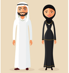 arabic couple man and woman together vector image