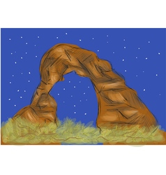 Arches national park vector