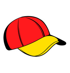 baseball cap icon icon cartoon vector image