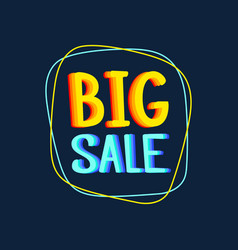 big sale special offer banner bright creative vector image