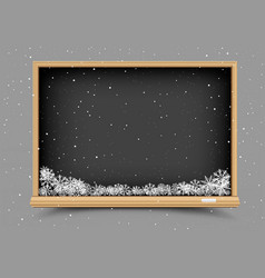 blackboard and winter snow vector image