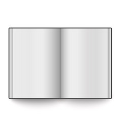 blank book spread placed on white background vector image