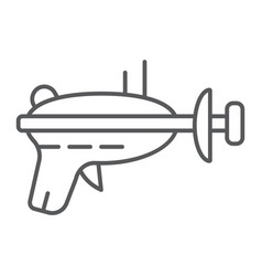 blaster thin line icon weapon laser blaster vector image