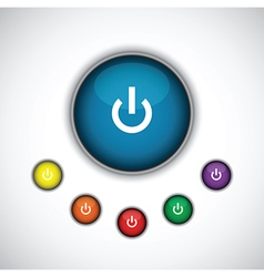 Blue on button vector