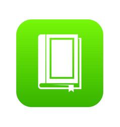book icon digital green vector image