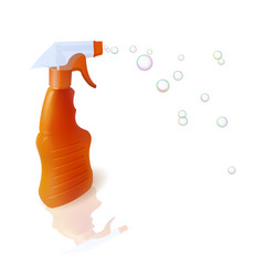 bottle with sprayer vector image