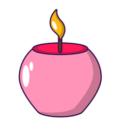 candle spa icon cartoon style vector image