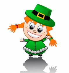cartoon Irish girl vector image