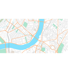 city map urban center with streets and parks vector image