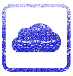 Cloud framed textured icon vector