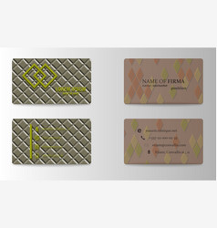 Creative and clean double sided business card vector