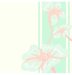 Decorative floral background with blue flowers vector image