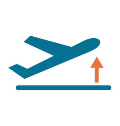 Departure take off plane icon simple vector
