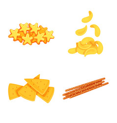 Design food and crunchy symbol vector
