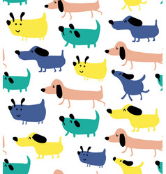 Dogs pattern vector