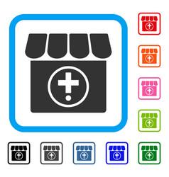 Drugstore framed icon vector