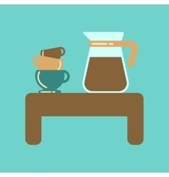 flat icon on background coffee cup of coffee table vector image