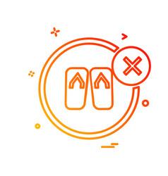 foot wear icon design vector image