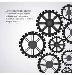 gear cog machine part set design vector image
