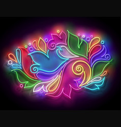 glow abstract ornament in paisley style vector image