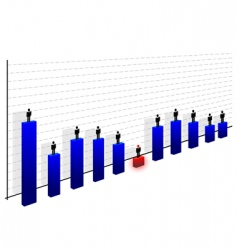 graph with men vector image