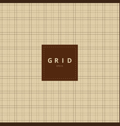 grid square graph line on brown old paper vector image