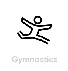 gymnastics sport icon vector image