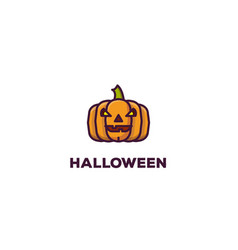 halloween banner with pumpkin vector image