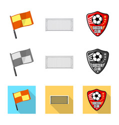 Isolated object of soccer and gear logo vector