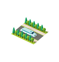 Isometric front right view limousine vector