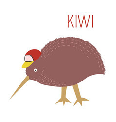 Kiwi cartoon bird from australia new vector